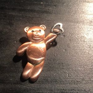 Precious copper bear pin
